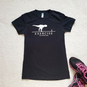 Tops - Humor Exercise graphic tee